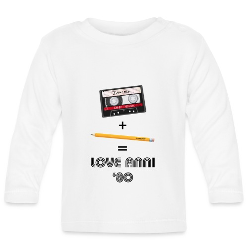 Maglietta love anni 80 - Maglietta a manica lunga per bambini