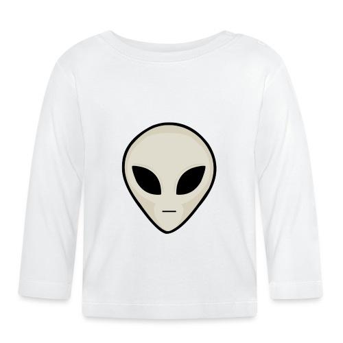 UFO Alien Head - Baby Long Sleeve T-Shirt