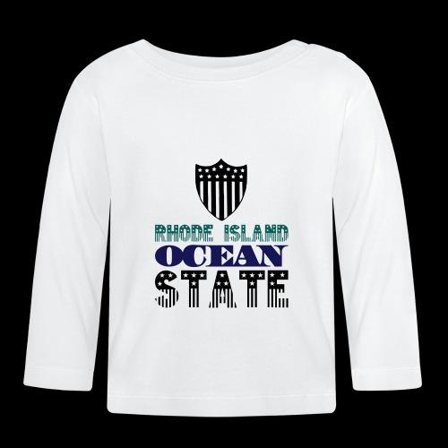 rhode island ocean state - Baby Long Sleeve T-Shirt