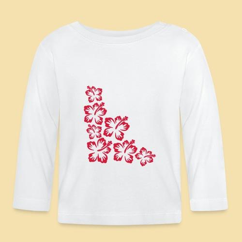 Hibiskus Blueten Ecke - Baby Langarmshirt