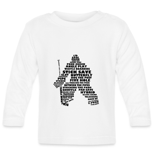 Language of Hockey (Goalie version, black print) - Baby Long Sleeve T-Shirt