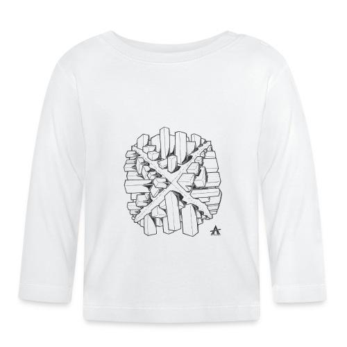 croix en perspective - T-shirt manches longues Bébé