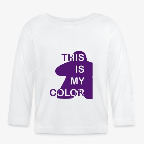 That is my Color - Langarmet baby-T-skjorte