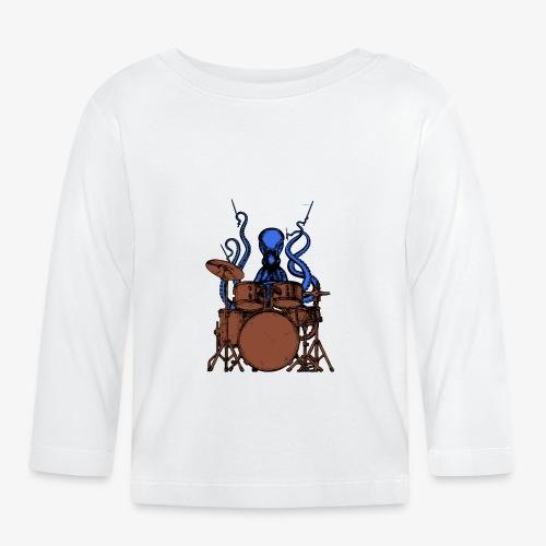 Oktopus spielt Schlagzeug - Baby Langarmshirt