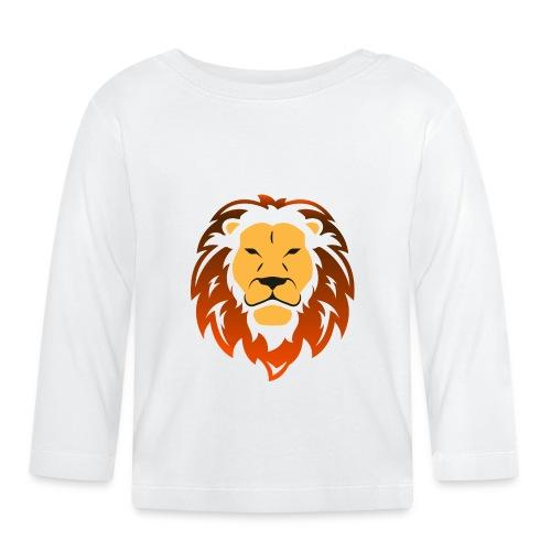 Lion orange - T-shirt manches longues Bébé