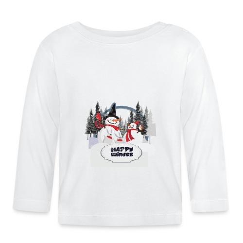 happy winter - T-shirt manches longues Bébé