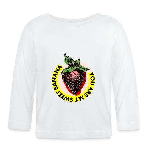 Douce banane fraise - T-shirt manches longues Bébé