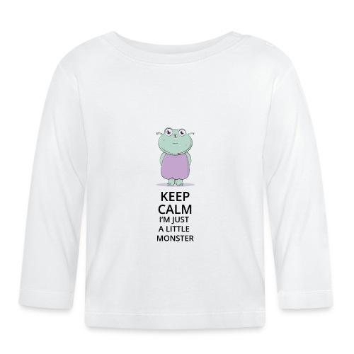 Keep Calm - Little Monster - Petit Monstre - T-shirt manches longues Bébé