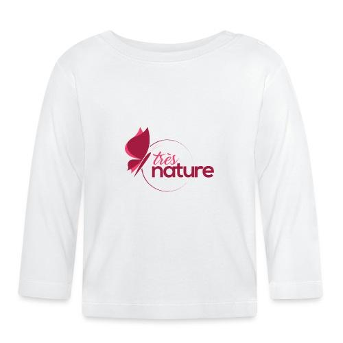 rond_rose_pap_tablier - T-shirt manches longues Bébé