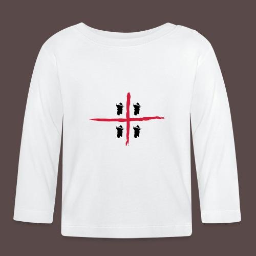 Sardegna Bendata, 4 Mori orizzontale - Maglietta a manica lunga per bambini