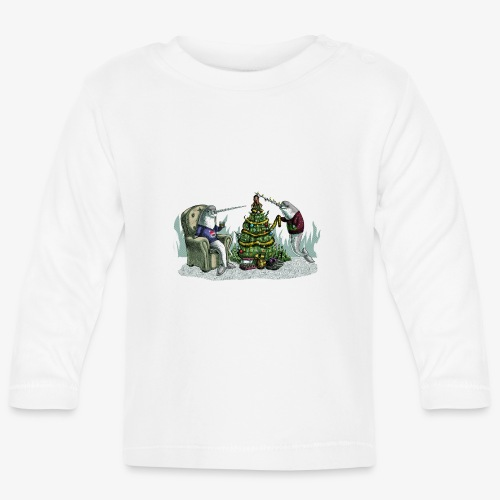 Narwhal Underwater Christmas - Baby Long Sleeve T-Shirt