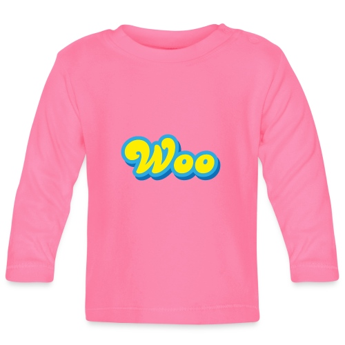 Woo in Yellow and Blue - Baby Long Sleeve T-Shirt