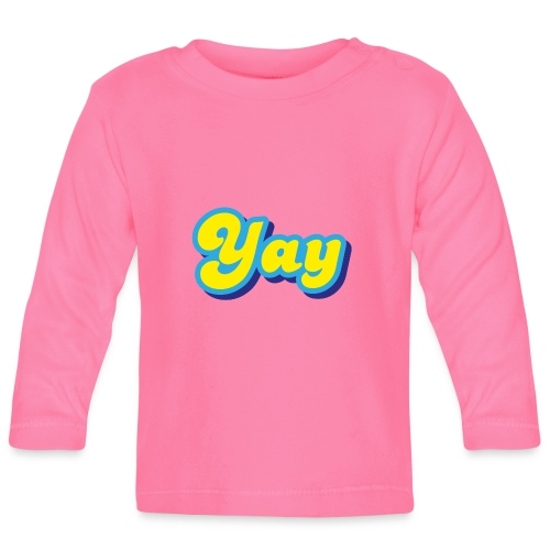 YAY in Yellow and Blue - Baby Long Sleeve T-Shirt