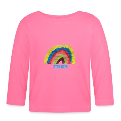 Stay Safe Rainbow Tshirt - Baby Long Sleeve T-Shirt