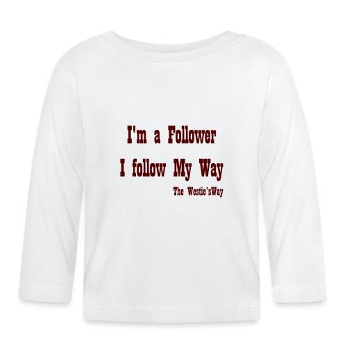 I follow My Way Brown - Koszulka niemowlęca z długim rękawem