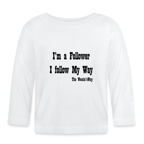 I follow My Way Black - Koszulka niemowlęca z długim rękawem
