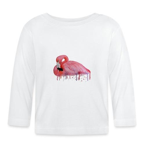 Pink Flamingo Watercolors Nadia Luongo - Maglietta a manica lunga per bambini