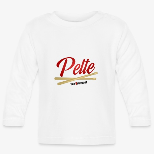 Pette the Drummer - Baby Long Sleeve T-Shirt