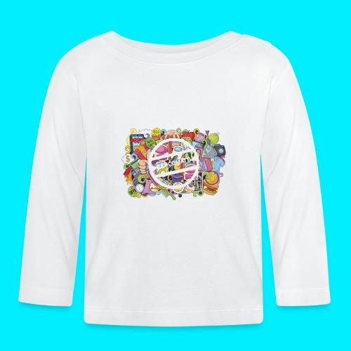maglia logo doodle - Maglietta a manica lunga per bambini