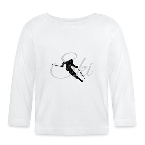 Ski Skifahren, Skifahrer - Baby Langarmshirt