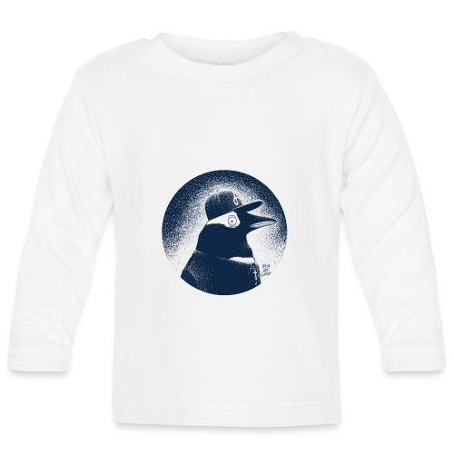 Pinguin dressed in black - Baby Long Sleeve T-Shirt