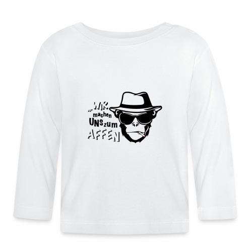 Hipster Monkey - Baby Langarmshirt