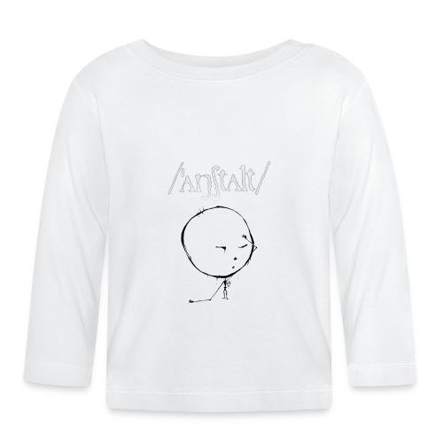 kreisling mit logo (weiß) - Baby Langarmshirt