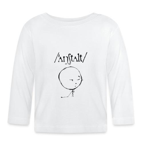 kreisling mit logo (schwarz) - Baby Langarmshirt