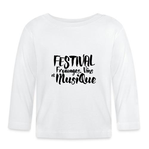 Festival Fromages, Vins et Musique - T-shirt manches longues Bébé