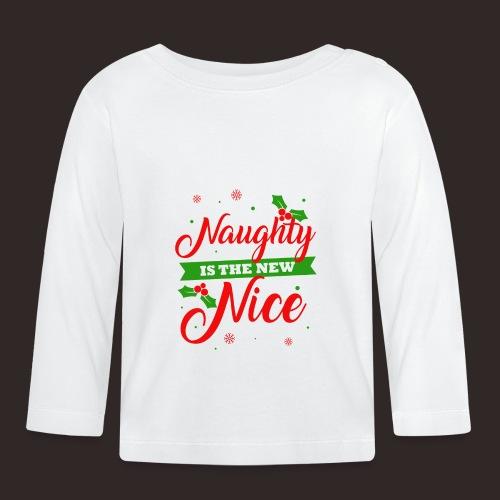 Weihnachten | unartig artig nett - Baby Langarmshirt