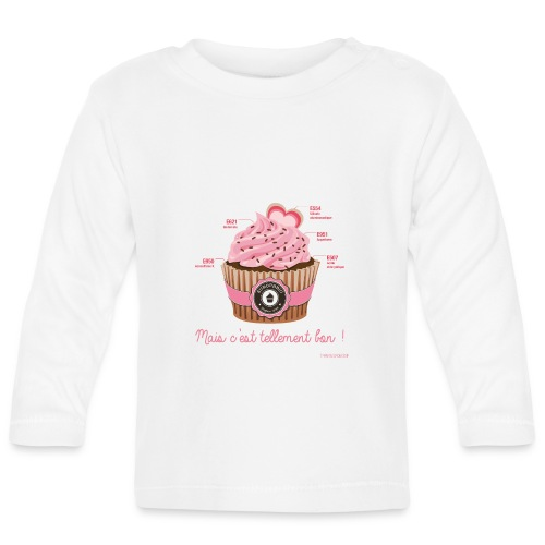 cupcake rose 2 - T-shirt manches longues Bébé