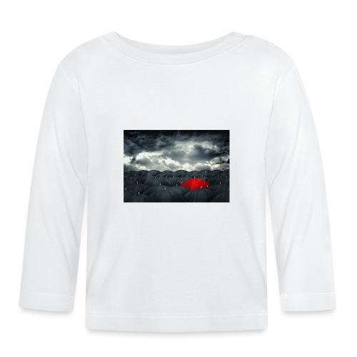 Der rote Regenschirm - Baby Langarmshirt