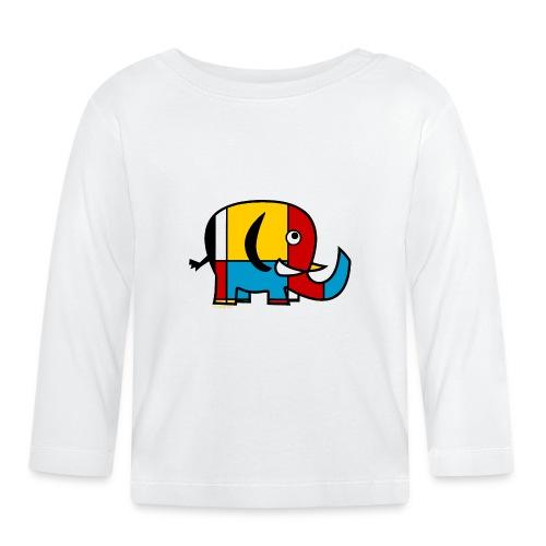 Mondrian Elephant - Baby Long Sleeve T-Shirt