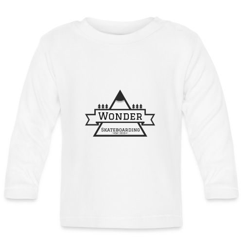 Wonder hoodie no hat - Mountain logo - Langærmet babyshirt