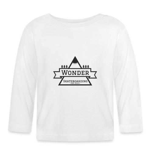 Wonder T-shirt: mountain logo - Langærmet babyshirt