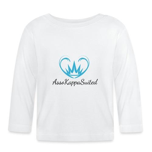 AssoKappaSuited Blu - Maglietta a manica lunga per bambini