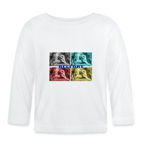 Lion de Belfort quadrichromie + nom - T-shirt manches longues Bébé
