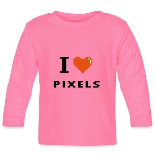 Iheart PIXELS - Baby Long Sleeve T-Shirt