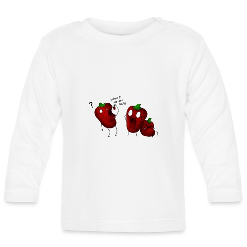 What we are tasty Erdbeeren - Baby Langarmshirt