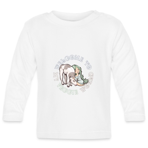 Welcome to my Veggie World - T-shirt manches longues Bébé