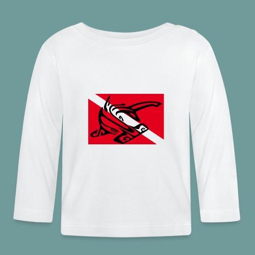 flag_ham_shark - T-shirt manches longues Bébé
