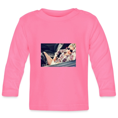 Cool woman in car - Baby Long Sleeve T-Shirt