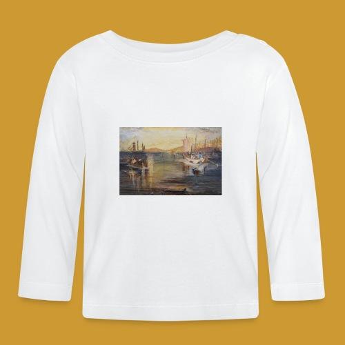 White Fishing - Mark Noble Art - Baby Long Sleeve T-Shirt