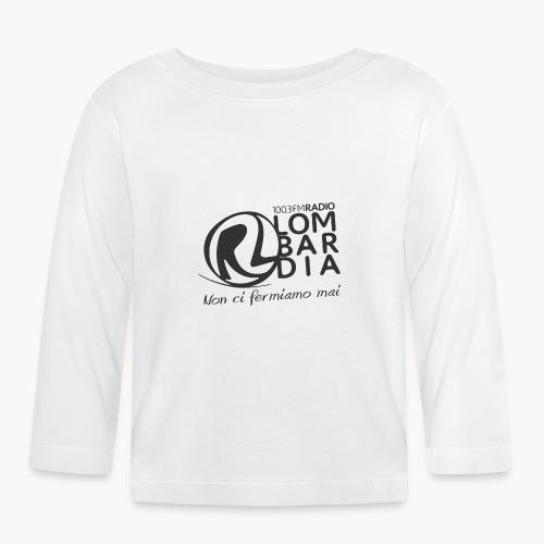 Uomo - Maglietta - Logo Nero - Maglietta a manica lunga per bambini