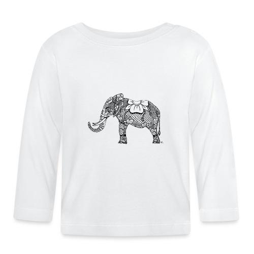 Éléphant oriental - T-shirt manches longues Bébé