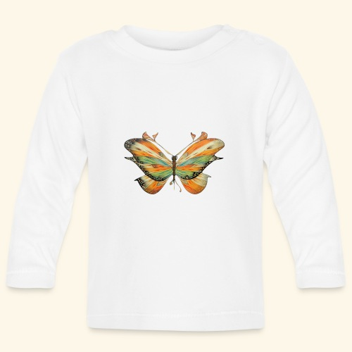 grande farfalla colorata - Maglietta a manica lunga per bambini