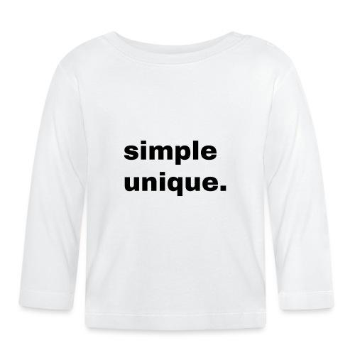 simple unique. Geschenk Idee Simple - Baby Langarmshirt