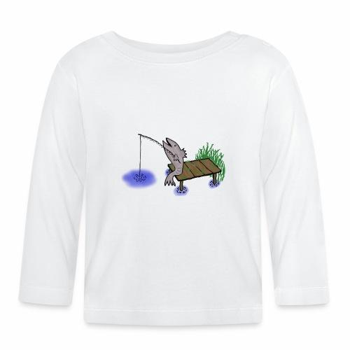 Fisch, Angler,Teich - Baby Langarmshirt