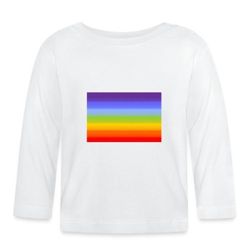 Hintergrund Regenbogen Streifen - Baby Langarmshirt