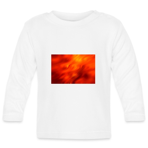 Hintergrund Wellen rot - Baby Langarmshirt